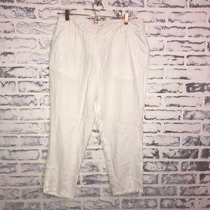 EILEEN FISHER  Organic Linen Crop Pants Pockets